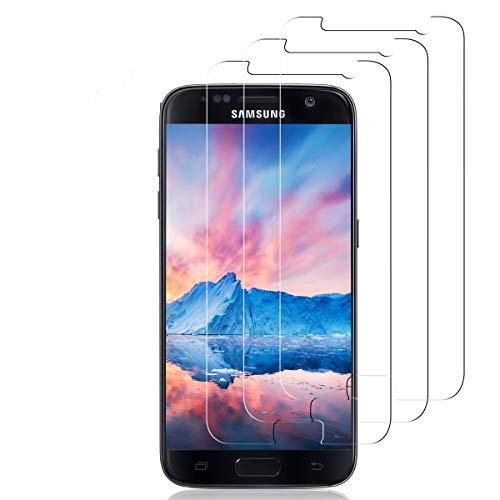 NONZERS Panzerglas Schutzfolie für Samsung Galaxy S7 [3 Stück], 9H Härte Panzerglasfolie Displayschutzfolie für Galaxy S7, Anti-Kratzer Schutzglas, Bläschenfrei Transparent