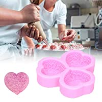 石鹸型、石鹸バー型、アロマテラピー用ハート型石膏ケーキデコレーションケーキ手作り石鹸(pink)