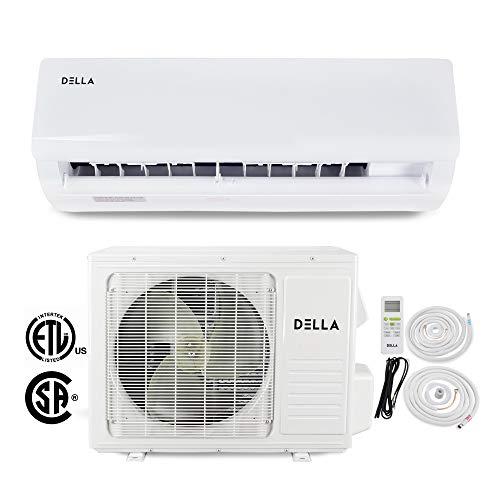 DELLA 18,000 BTU 230V- 15 SEER Home Wall Mount Mini Split Inverter Heat Pump Air Conditioner AHRI Certified 16' ft Installation Kit, White