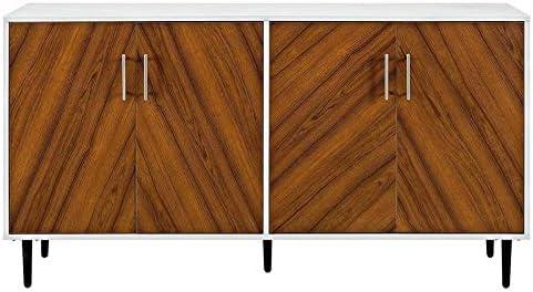 Media console Cherry or walnut Buffet Cabinet- Danish Mid Century Modern Wardrobe Armoire Chest of Dresser