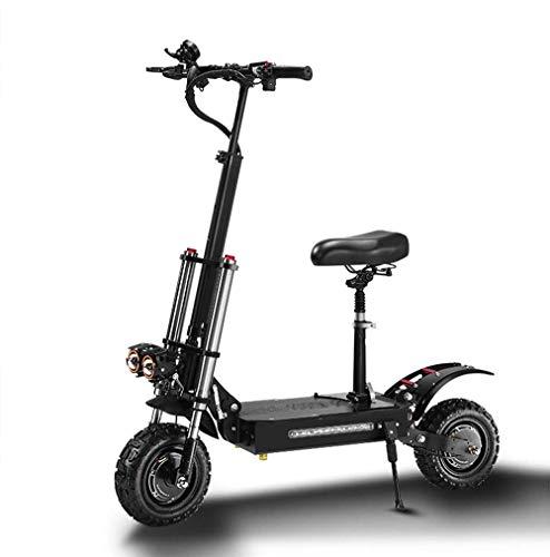 ZLM Scooter eléctrico para Adultos, Plegable rápido, 2 Ruedas, Mini e-Scooter 5600W, Motor Dual, 11 Pulgadas, neumáticos de vacío Todoterreno, 60V, batería de Litio de 18,2/26/32AH,Top Version