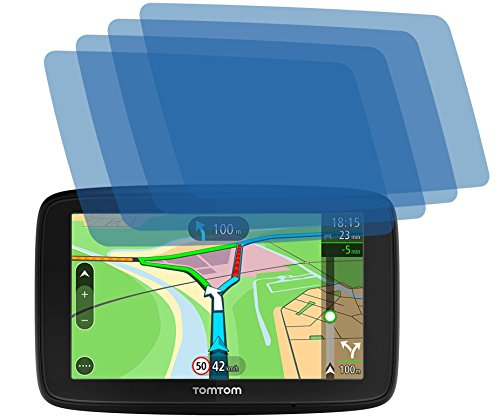 4ProTec I 4X Crystal Clear klar Schutzfolie für Tomtom Via 53 Premium Displayschutzfolie Bildschirmschutzfolie Schutzhülle Displayschutz Displayfolie Folie