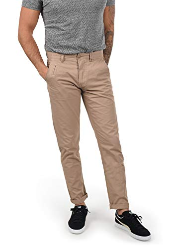 Blend Tromp Herren Chino Hose Stoffhose Aus 100% Baumwolle Regular Fit, Größe:W36/32, Farbe:Beige Brown (71509)