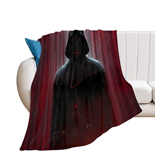 Manta de dormitorio de Star Wars película Darth Vader - Manta para hombre joven (150 x 130 cm)