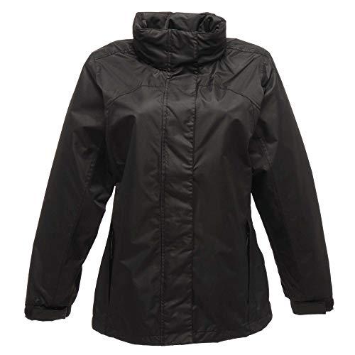 Regatta Damen Ashford Breathable Jacke, Dunkelgrau/Schwarz, Größe 12
