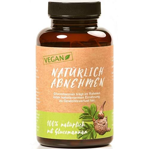 Valetudoo®'Natürlich Abnehmen' Kapseln mit Glucomannan, hochdosiert, vegan, hergestellt in Deutschland