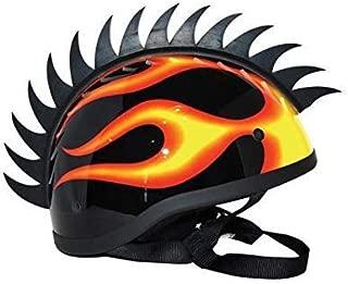 : Cuttable Helmet Spikes for All Motorcycles Dirt Bike & Normal Helmets (Black) (black)