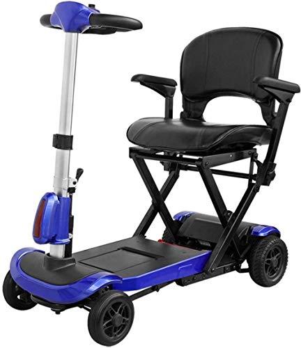 DYHQQ Scooter de Movilidad portátil, 4 Ruedas con Radio de Giro Ajustado,...