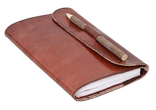 Gusti Notitieboek lederen boek notitieblok boek dagboek schetsboek lederaccessoire fotoboek reisdagboek receptenboek glad rood P65