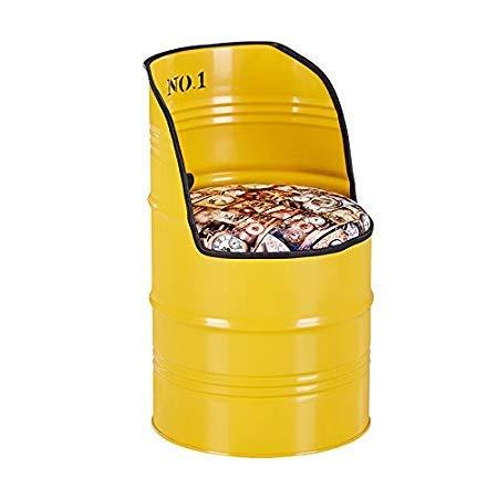 Xia Yuu ontbijtbare stoel kruk ijzeren kruk, casual Paint Bar olievat Iron Drum opslag en rugleuning theelade Coffee Shop Store keukenstoel (meerkleurig optioneel) barkruk belading 150kg