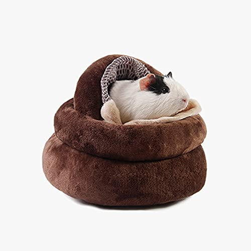 Casa de Invierno de Hámster Suave Cálido Cama de Cueva de Lana Nido de Dormir Cama de Mascota Cálido Nido de Dormir para Gatito Gerbo Oso Dorado Erizo Rata Conejillo de Indias