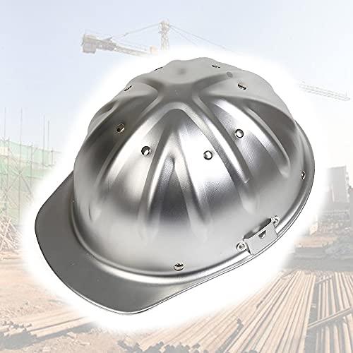 KZXCTG Aluminiumhelm Arbeitshelm Einstellbarer Schutzhelm Bauhelm Aluminium Hart Die Oberseite ist sicherer und effektiver um Pannen zu verhindern