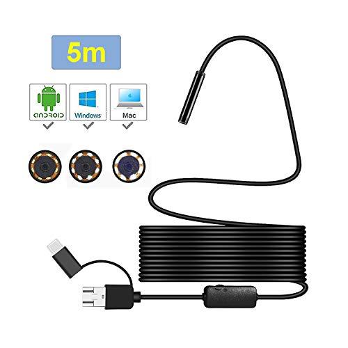 Endoscopio inalámbrica WiFi cámara de inspección Tres en