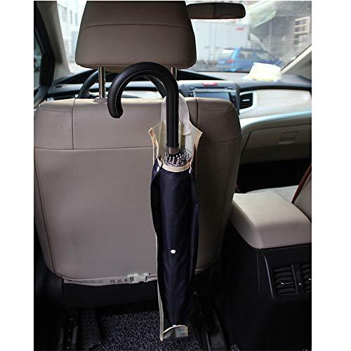 MUXItrade Voiture pliable imperméable Parapluie, Housse de voiture d'assise Dos Parapluie Parapluie de cintre Organiseur Sac de rangement étanche Parapluie Coque