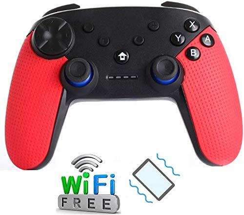 ZGYQGOO Manette Jeu Manette sans Fil, Manette PS4 avec Vibration, Chargeur Manette Charge USB, compatibilité PS3 Pro Switch, contrôleurs Cubes, récepteur Bluetooth, Noir