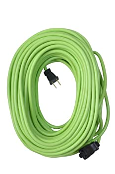 Yard Master 9940010 Outdoor Garden 120-Foot Extension Cord Light Duty Water Resistant Super Flexible and Lightweight Durable 16 Gauge 2 Pronged Highly Visible 10 Amps Lime Green