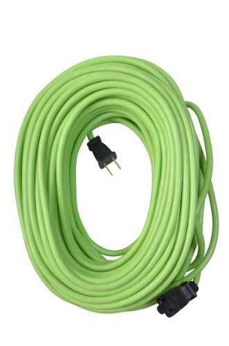 Yard Master 9940010 Outdoor Garden 120-Foot Extension Cord, Light Duty, Water Resistant, Super Flexible and Lightweight, Durable 16 Gauge 2 Pronged, Highly Visible, 10 Amps, Lime Green