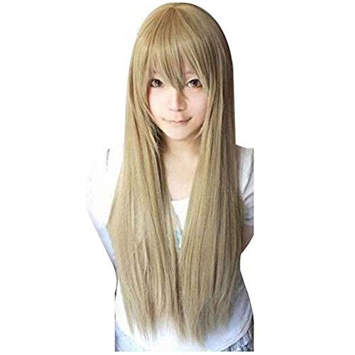 80cm Star Butterfly Alice disfraz Edward Elrich Peluca de cosplay sintética rubia recta larga Vocaloid con flequillo + gorra de pelucacomo la imagen