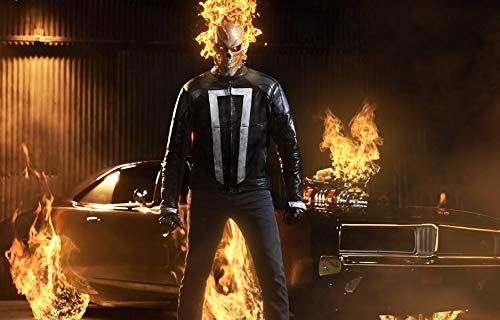 Ghost Rider Poster Marvel's Agents of Shield Art Print Ghost Rider Artwork No Frame Poster Modern Canvas Prints Wall Art Paintings Ready to Hang Home Decorations Giclee Pictures