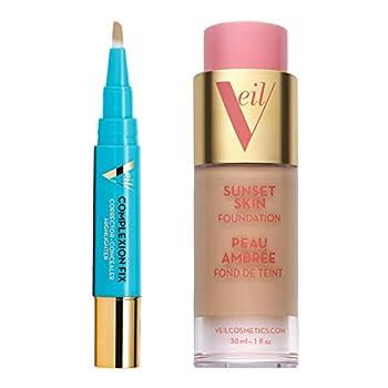 Veil Cosmetics Complexion Concealer & Foundation Bundle  3N