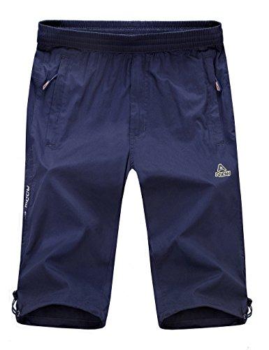 Echinodon Junge 3/4 Kurze Hose Leicht/Dünn/Atmungsaktiv 100% Baumwolle Sport und Freizeit Kinder Sweatshorts Joggingshorts