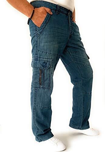 Brandit Rackam Vintage Herren Cargo Jeans (W36/L32)