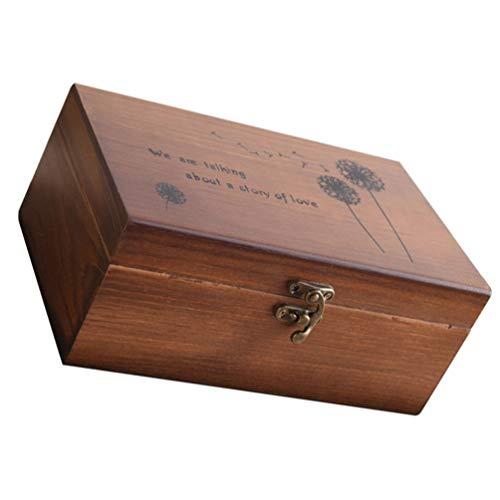 Doitool Caja de Almacenamiento de Costura Caja de Madera de 3 Compartimentos Organizador de Almacenamiento de Costura Contenedor de Herramientas de Costura para Principiantes