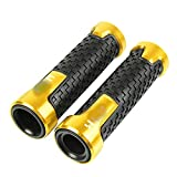7/8'Motorycle Manillar Handle Public Grips De La Barra Gel End Grip para X-RV750 para A-FRICA Twin XRV 750 L-Y para A-FRICA Twin 1990-2003 Manillares (Color : Gold)