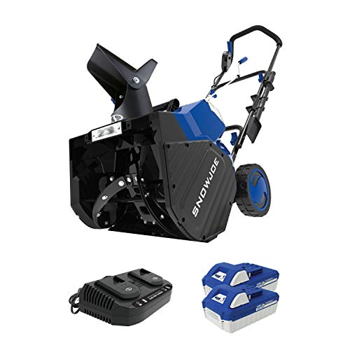 Snow Joe 24V-X2-SB18 48-Volt iON+ Cordless Snow Blower Kit | 18-Inch | W/ 2 x 4.0-Ah Batteries and...