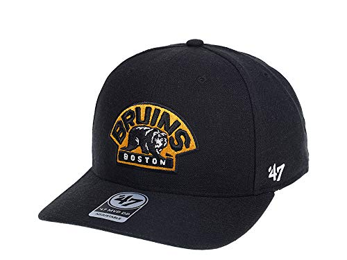 47Brand Boston Bruins Black MVP DP Snapback Cap - NHL Eishockey Kappe