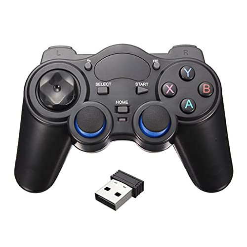 MARSPOWER Gamepad inalámbrico, 2.4G Bluetooth Joypad Gamepad Remote, Plug and Play Smart Phone Gamepad inalámbrico para teléfono Android/PC/TV Box/Smart TV - Negro USB OTG