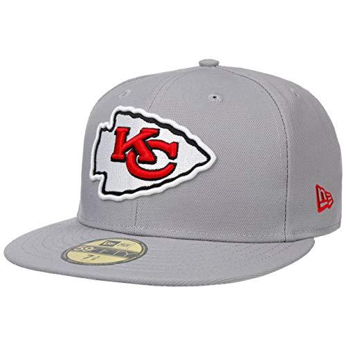 New Era 59Fifty GCP Chiefs 1 Cap Basecap Baseballcap Flat Brim NFL-Cap Fitted Kansas City (7 3/4 (61,5 cm) - hellgrau)