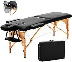 سرير طاولة للتدليك، للأريكة التجميلية المحمولة بقسمين، خفيفة الوزن وقابلة للطي مع أرجل خشبية مزدوجة الطبقات للعلاج من...