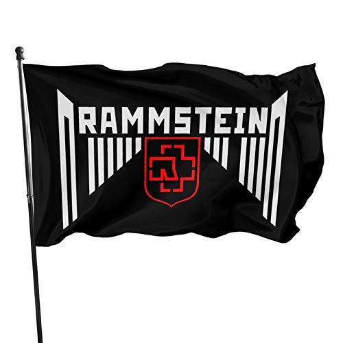 Ram-mstein Fahnen Flagge Flag Banner Polyester Material Gartenbalkon Gartendekoration Im Freien 90x150cm