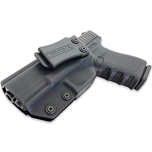 IWB Kydex Holster | American Company | Concealed Carry Holster | Compatible with Glock 17 19 22 23 26 27 31 32 33 45 (Gen 1-5) Inside The Waistband (Left Handed)