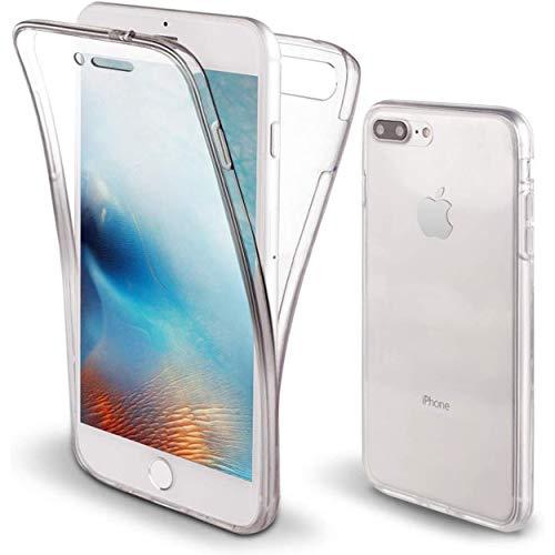 NewTop Cover Compatibile per iPhone 7 Plus e 8 Plus, Custodia Crystal Case TPU Silicone PC Protezione 360° Fronte Retro Full Body