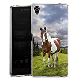 DeinDesign Silikon Hülle kompatibel mit Sony Xperia Z5 Premium Case Schutzhülle Pferd Horse Stute