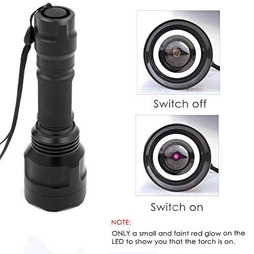 940nm IR Hunting Torch Zoomable IR Illuminator Infrared Flashlight Waterproof Adjustable Focus with Scope Mount, Remote Pressure Switch, Battery Included for Night Hunting