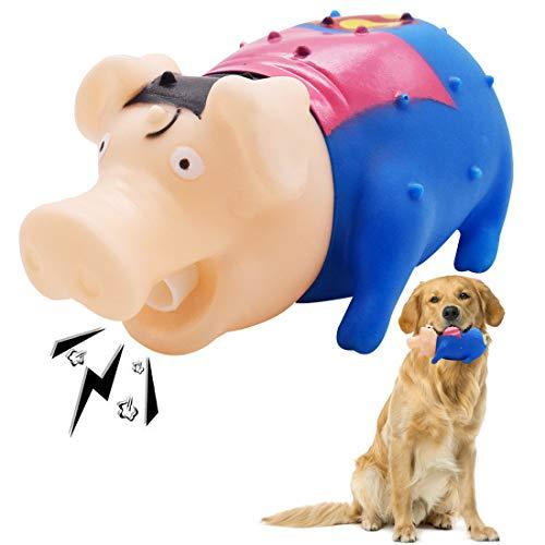 Maiale in lattice giocattolo per cani YUESEN Giocattolo a Forma di Maialino Morbido Disponibile Resistente ai Morsi, per la Pulizia dei Denti e per la Cura Orale dei Denti per Piccolo e Medio Cani