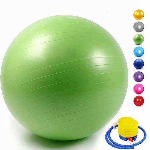 YANGHUI - Pelota de gimnasia Mind Body Future. Balón suizo perfecto como pelota de asiento. Pelota terapéutica. Para yoga, pilates, embarazo. Robusto, antideslizante, hipoalergénico.