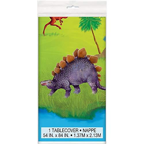 Unique Party 58313 - Nappe en Plastique - 2,13 m x 1,37 m - Fête à thème des Dinosaures