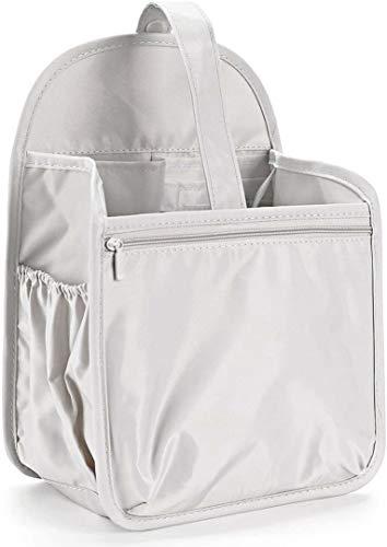 SHINGONE Nylon Backpack Organizer Insert for Backpack, Rucksack Organiser Insert for Women, Lightweight Bag in Bag Organiser Insert Handbag -S Grey