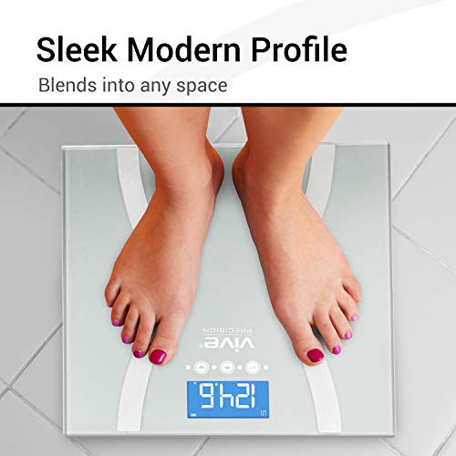 Vive Precision Bariatric Scale - BMI Body Fat Digital Bathroom Scale Calculates and Analyzes Weight and Electronic Composition Percentage - Accurate Reliable Home Measurement - Men, Women