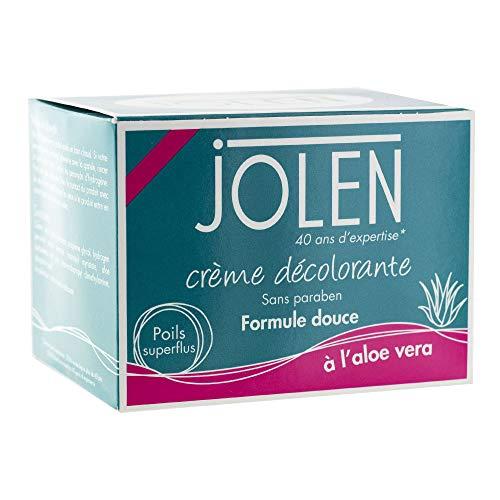 Jolen Crème décolorante, formule douce, à l'aloe vera - Le pot de 125ml