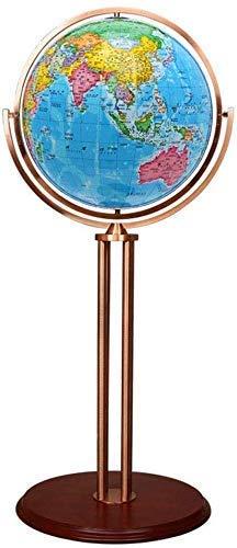 HFJKD Large Size World Globe, 42Cm Universal Vintage Antique Globe Earth Globes HD Floor-Standing Home Office Decoration Ornamentlue