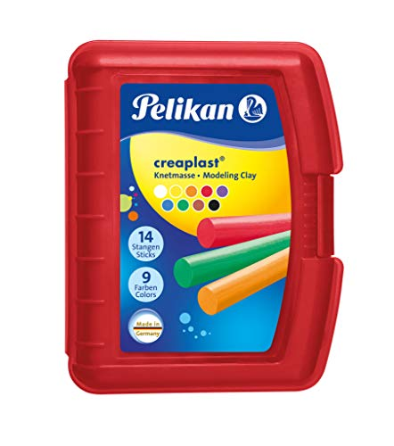 Pelikan 198/9R Modelliermassen Kinderknete Creaplast, 300g, rot