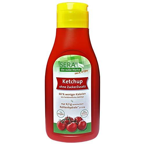 Sera Ketchup vegan mit Erythrit ohne Zuckerzusatz 500 ml Dosierflasche