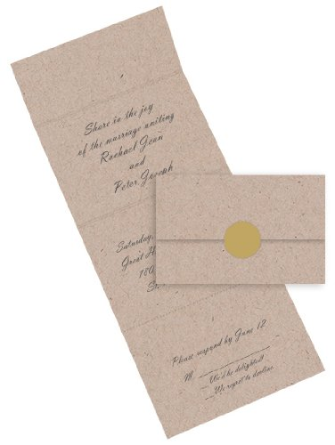 Brown Seal Send Invitations - Desert Storm, 50 pack