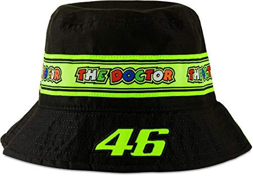 Valentino Rossi Vr46 Classic Chapeau Bucket Mütze, CAPESCVR46C, Schwarz , L-XL