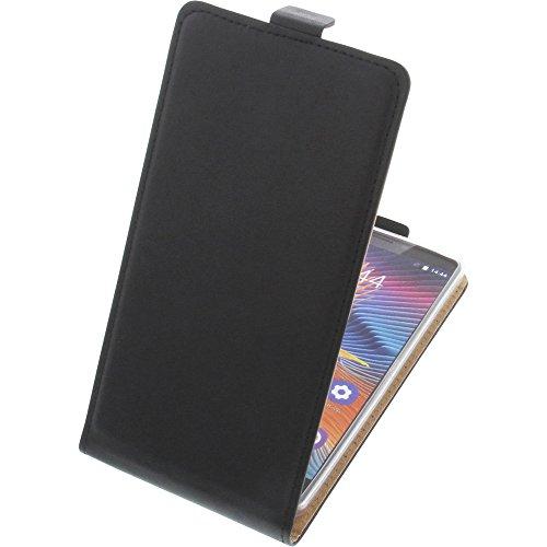 foto-kontor Tasche für Oukitel U13 Smartphone Flipstyle Schutz Hülle schwarz